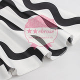 2014 New Spring Summer Women Dress Black And White Wave Stripe Printing Tank Top Ball Gown Mini Party Dresses = 1667479812