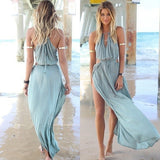 2014 Featuring A Drawstring Fastening Under The Bust Irresistible Khaki Maxi Dress Sexy Summer Cute Dress = 1667801284