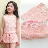 2Pcs Girls Baby Kids Outfit Bow Rose Top Shirt Dress + Pants SV006053|26601 Children's Clothing = 1745539524
