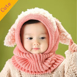 2014 New Winter Baby Toddler Girl Boy Warm Cute Dog Knitted Crochet Cloak hooded Hat Cap Beanie Scarf Set = 1958000324