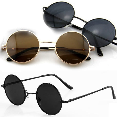 New Vintage Retro Men Women Round Metal Frame Sunglasses Glasses Shades D_L = 1712904324