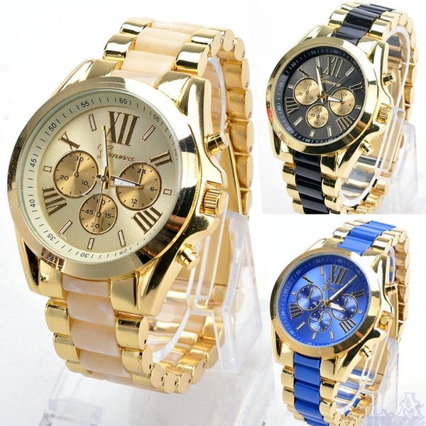 2014 Holiday Sale Men Women Dress Watch Unisex Wristwatches Men Wrist Watch Gold Steel Watches = 1956845828