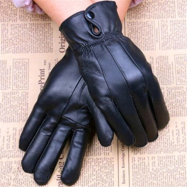 1 Pair Winter Snow Sheep Leather Women Female Motorcycle Bicycle Bike Fur Gloves = 1957993476