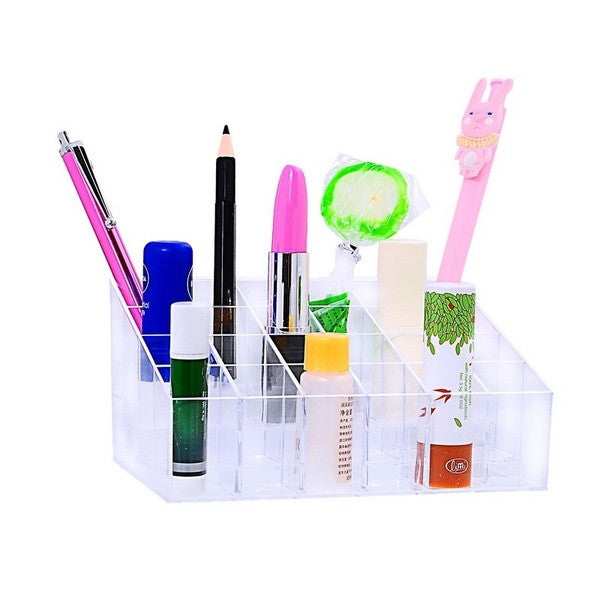 1PC Lipstick Storage Display Holder Acrylic Cosmetic Organizer Makeup Box (Size: 14.5cm by 9.6cm by 7cm, Color: Transparent) = 1705624644