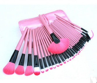32Pcs Cosmetic Makeup Brush Brushes Set Kit Tool Super Soft Pouch Bag Case + 1x Leather Case = 1668752068