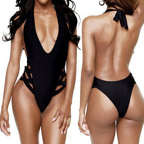 3ba42dc375 Sale Women Sexy One-Piece Swimwear High Cut Monokini Backless Swimsuit  Bikini   1956428100