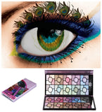 100 Pearl Color Roses Embossed  Mineral Eyeshadow Set Colorful Party Makeup (Color: Purple) = 1843115268