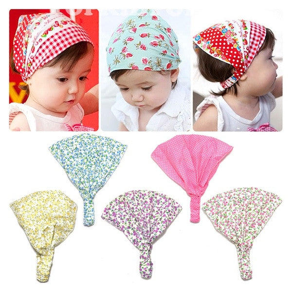 1pc Cotton Newborn Infant Toddler Kid Baby Girl Floral Headbands Hair Band Accessory Headscarfs Bandanas Headwear = 1958121732