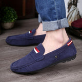 2015 New Color Genuine Leather Men Flat Shoes Men Loafers Peas Shoes Moccasins Fashion Casual Shoes