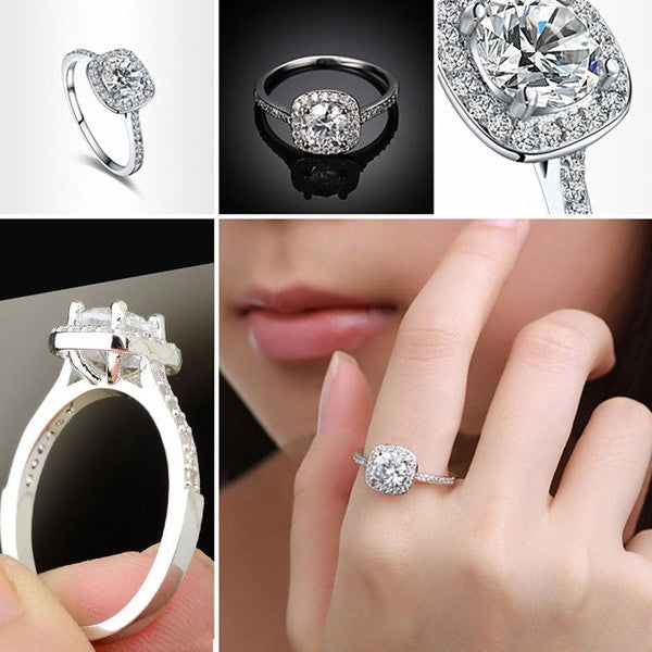 2015 New 925 Silver Wedding Ring Engagement Ring Crystal Jewelry Zircon = 1706179844