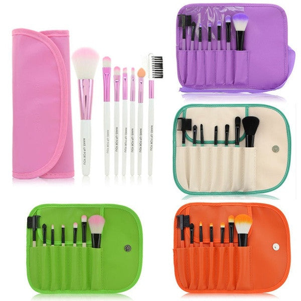 1 Set Of Hot Sale Colorful Professional Soft Cosmetic Makeup Brush Set Blush Brush + Pouch Bag Case = 1741730820