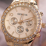 2015 hot sale Geneva Bling Crystal Women Girl Watch Unisex Stainless Steel Quartz Wrist WatchFree&Drop Shipping = 1956797764
