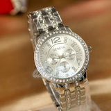 2015  hot sale  new fashion Geneva Bling Crystal Luxury Watches Ladies Women Girl Unisex Stainless Steel Quartz Wrist Watch = 1958093636