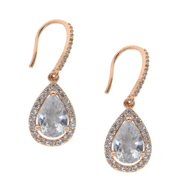 Dear Deer Rose Gold Plated Classic Teardrop Dangle Earrings