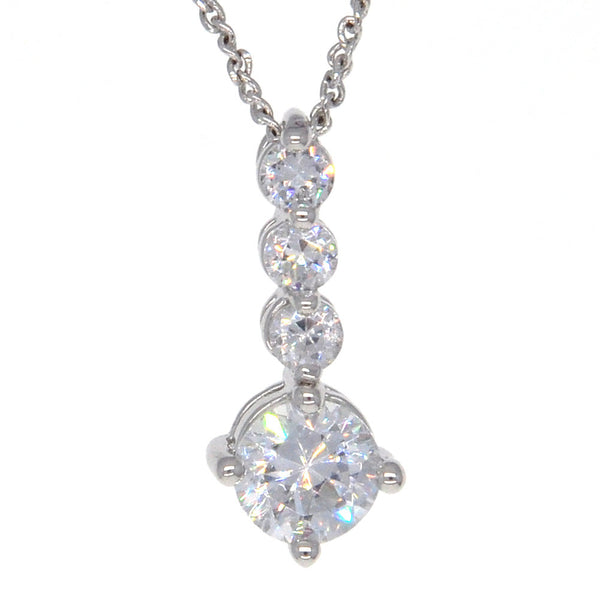 Dear Deer White Gold Plated Candy CZ Pendant Necklace