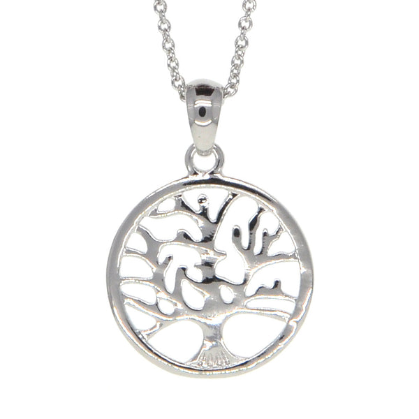 Dear Deer White Gold Plated Tree of Life Pendant Necklace