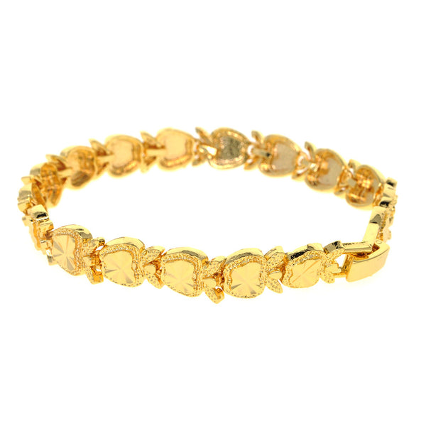 Dear Deer Gold Plated Elegant Apple Fruit Link Bracelet