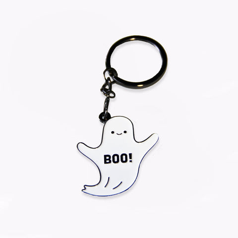 Boo - Badge Keychain