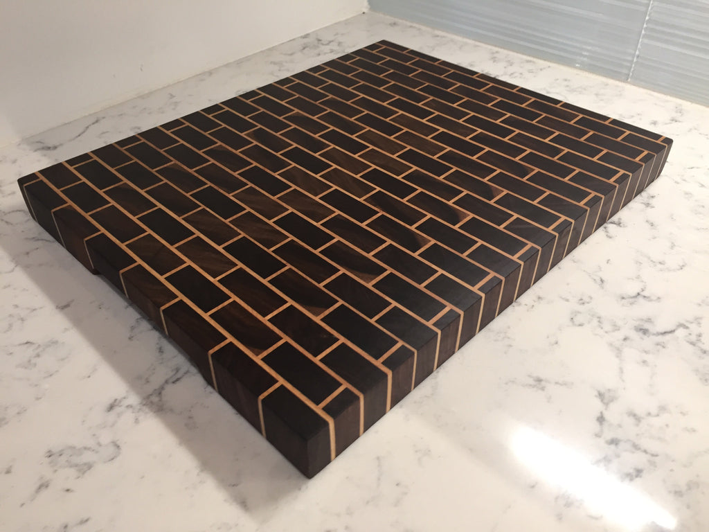 classic brick pattern cutting board willie workbench