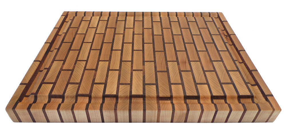 brick pattern end grain cutting board willie workbench