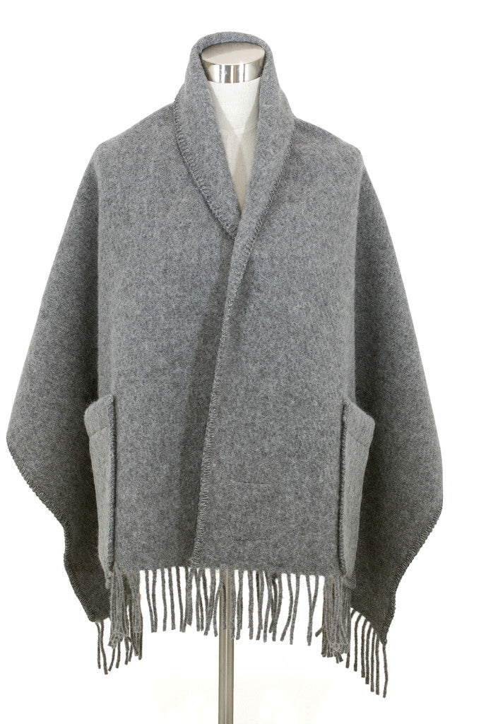 UNI POCKET SHAWL - Grey