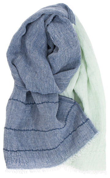 Tsavo Scarf - Blueberry/Mint