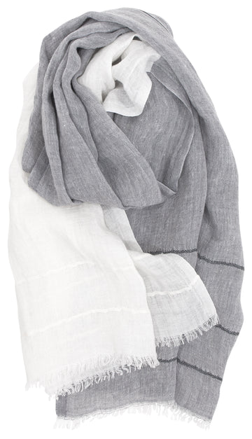 Tsavo Scarf - White/Grey
