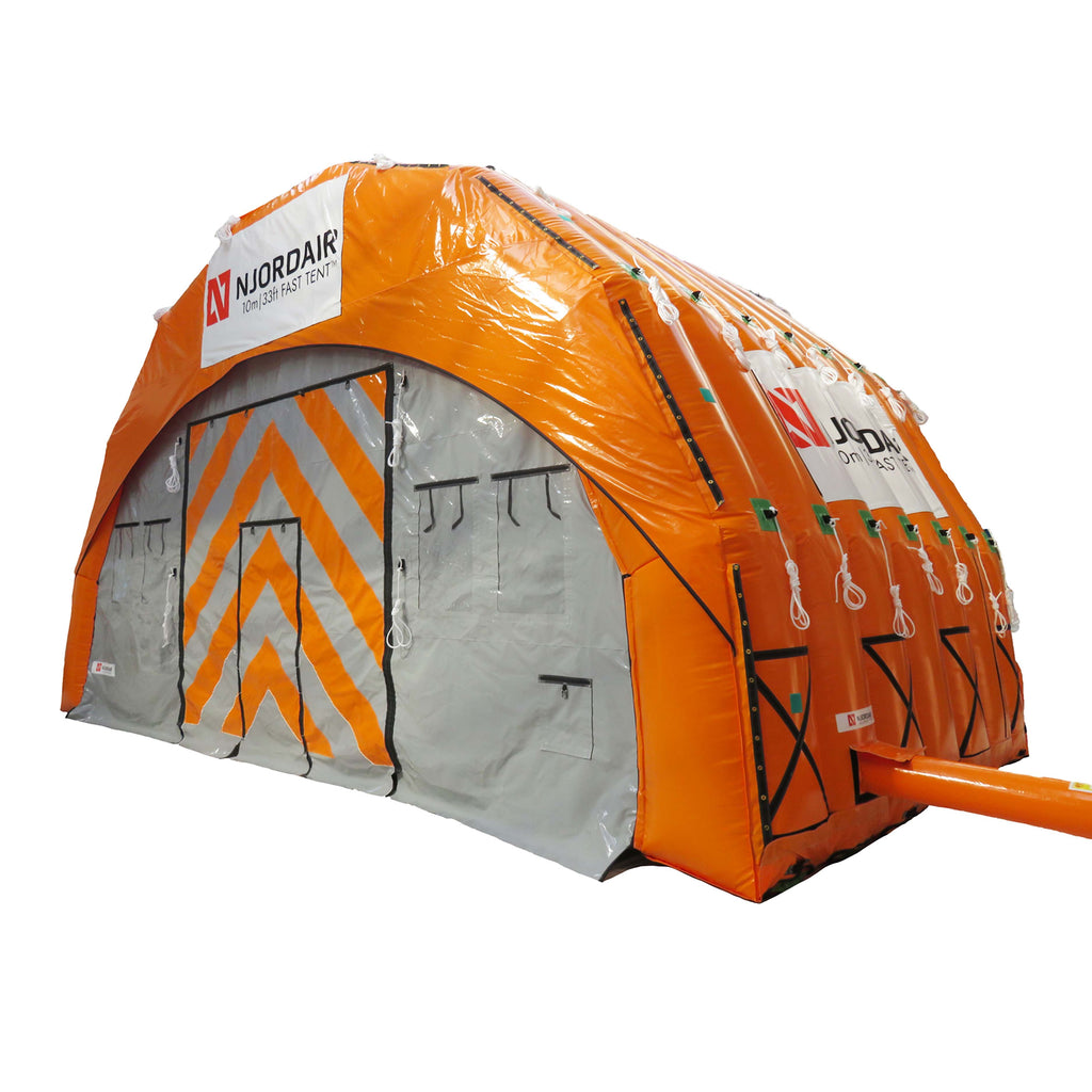 inflatable shelter 10m wide external view