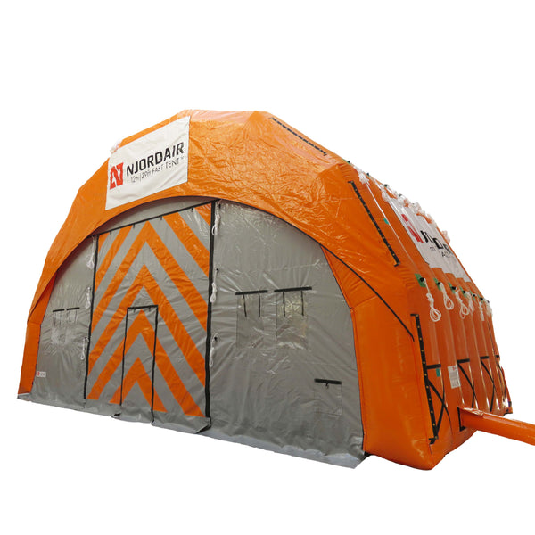 12m (39ft) inflatable work shelter outside view