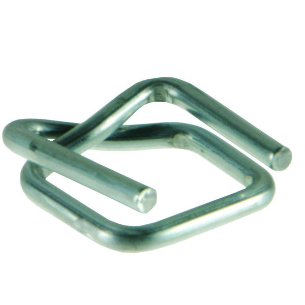 Metal buckle for shrink wrapping