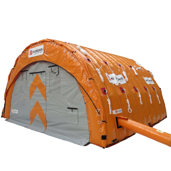 6m (20 feet) wide inflatable work shelter outside view