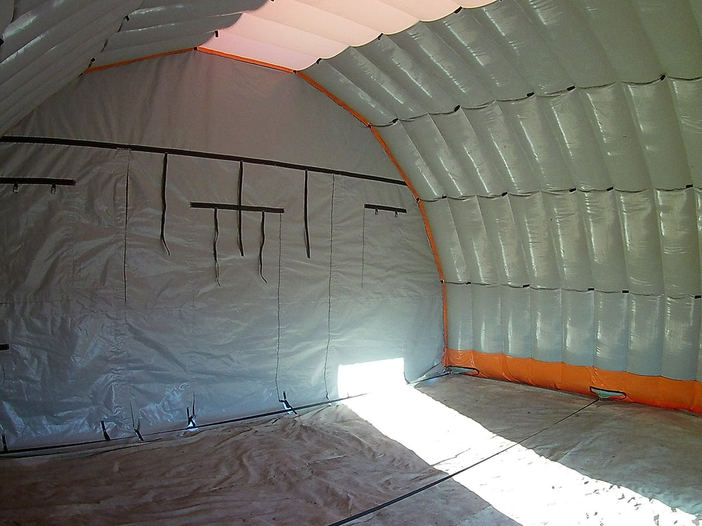 inside view of 8m wide (26ft) work shelter