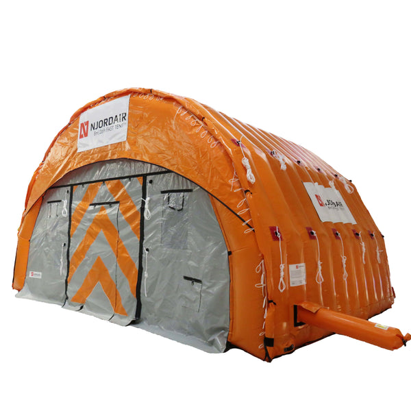 8m wide inflatable shelter - outside view