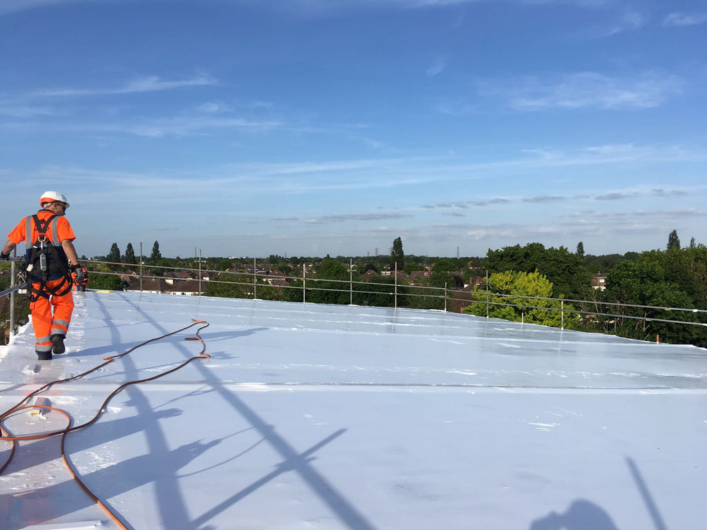 Temporary Roof Using Rhino Shrink Wrap