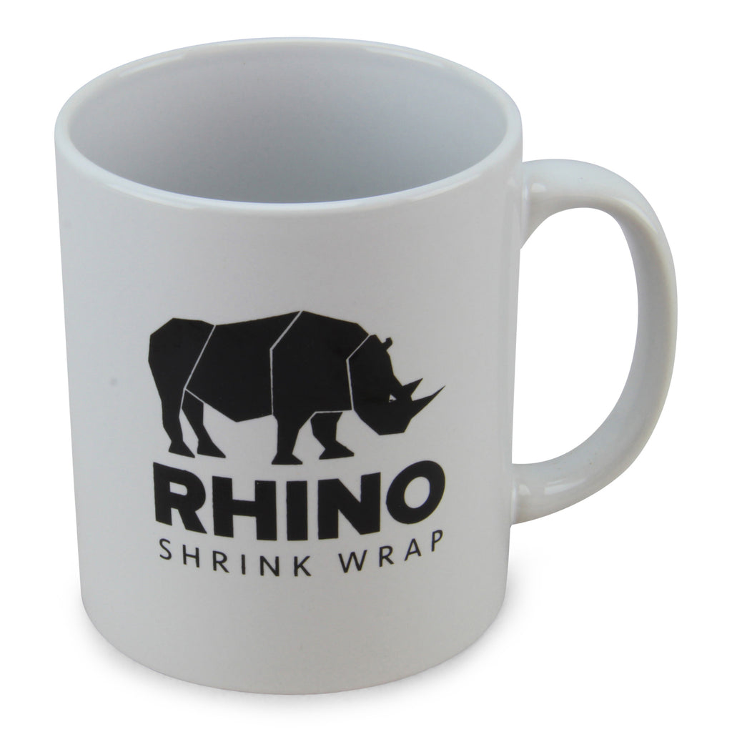 rhino shrink wrap mug