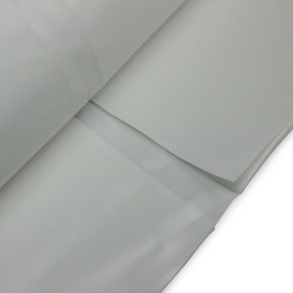 7 metre x 15 metre flame retardant scaffold shrink wrap roll close up