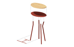 Perret Stool Low - Atelier Jones Design