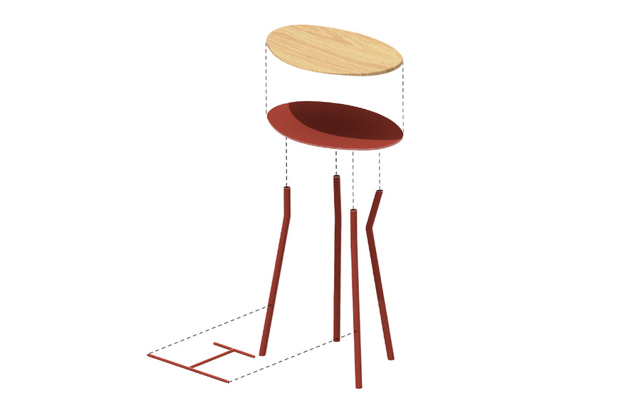 Perret Stool Low