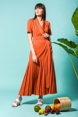 MYRTIA DRESS TERRACOTTA