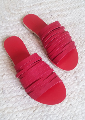 Sarakiniko Red - sandals- arpyes