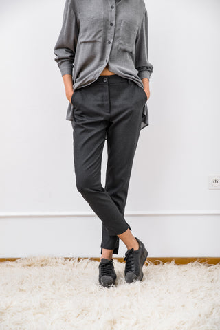 Viscose Tapered Trousers - trousers- arpyes