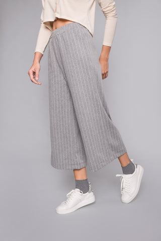 Grey Stripped Culottes - trousers- arpyes