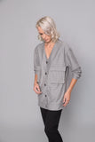 Grey Stripped Jacket - jacket- arpyes