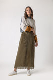 TOLUCA PLEATED SKIRT  khaki - pleated skirt- arpyes