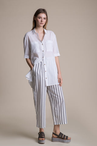 Cotton Peg Trousers Striped