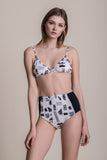 B & W High Waisted Bikini - swimwear- arpyes