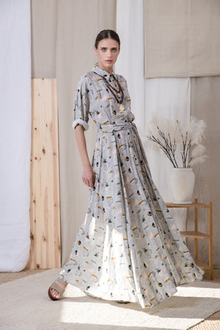 Bali long dress grey - Dress- arpyes