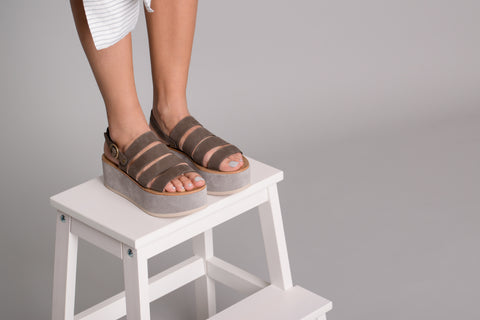 Orxidea Taupe Leather Sandals - sandals- arpyes