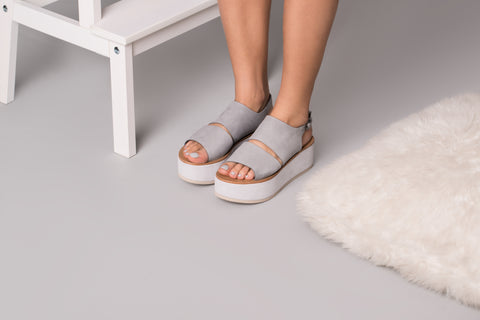 Iris Light Grey - sandals- arpyes