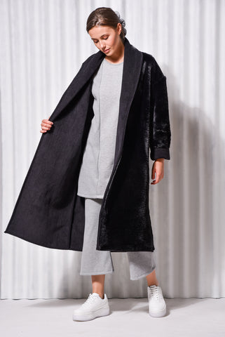 ALEXANDRITE DOUBLE FACE COAT BLACK